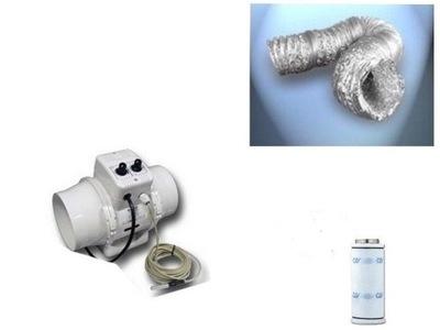 Záhradné svietidlo - potrubný ventilátor 150 GROWBOX 600m uhoľný filter