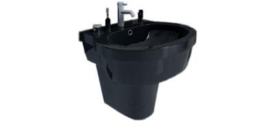 Umývadlo Benque čierne s podstavcom