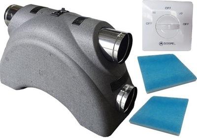 Prístroj je výmenník tepla 350 LUNA DOSPEL +diaľkové ovládanie +filter