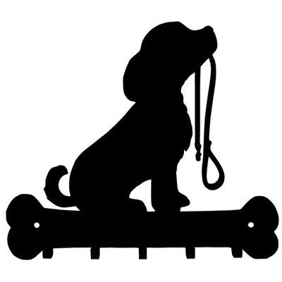 вешалка ключи Собака щенок Черный подарок