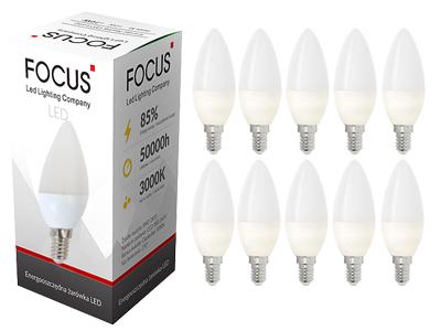 10x Лампа LED E14 ТЕПЛО 820lm 8W комплект ПАКЕТ
