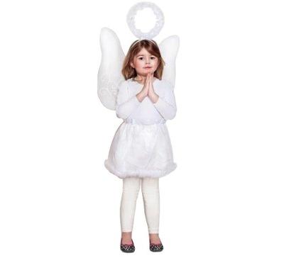 Karnevalový kostým, maska - WEDGE ANGEL, krídla halo sukne JASEŁKA