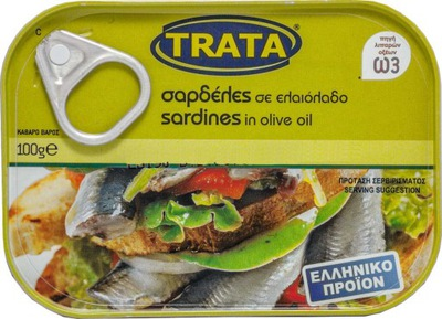 Сардины в оливковом масле, 100 г, Греция