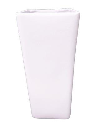 Kontajner keramické biele H 35 cm