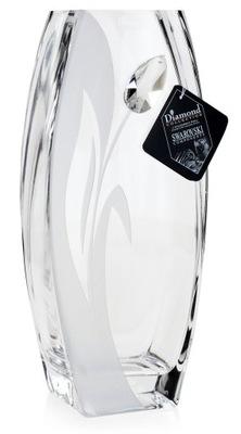 Красивая большая ваза из стекла Тюльпан Swarovski 32см