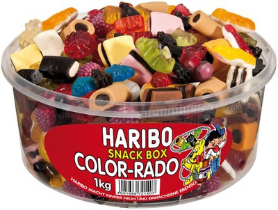 Мишки Haribo Color-часов Rado 1 кг из Германии