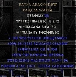 Siatka Arachnidów Arach Pas (Diablo 2 Ladder)