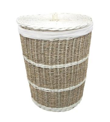 Корзина круглый контейнер для белья Морская трава H51cm