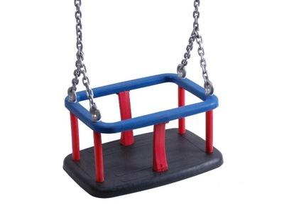 Hojdačka pre deti - Sedadlo lopaty sa otáča pozinkovaným reťazcom