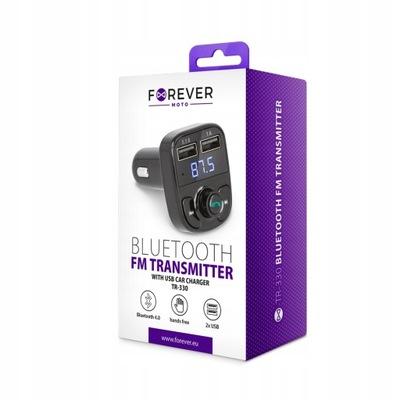 Transmiter FM Bluetooth Forever TR-330 + Ładowarka