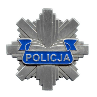 Полицейская БЛЯХА ЖЕСТЬ ПОЛИЦИИ Звезда 40 мм