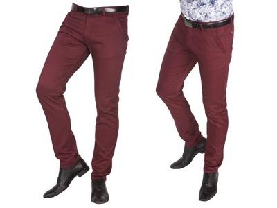 Spodnie barbetti bordowe 1938 fashionmen2 rozm. 48