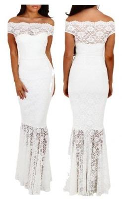 abfdfd9913 Długa koktajlowa wieczorowa sukienka 61481 S 36