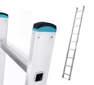 Лестница алюминиевая przystawną 1x9, 2 ,56 ? резинка