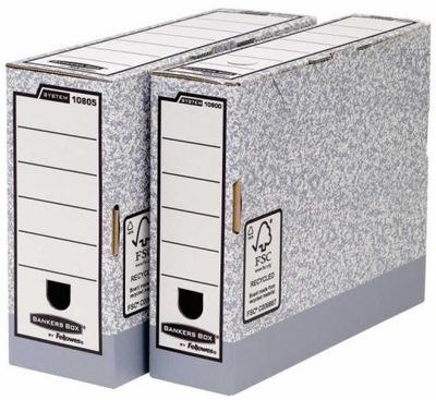 Praktyczne Pudełka Na Akta 80mm 10 sztuk Fellowes