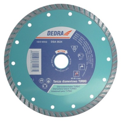 Rezací kotúč - DEDRA TURBO DIAMOND DISC 125 mm / 22,2 mm H1101