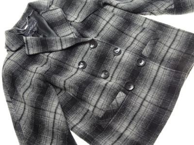 Krótki płaszcz kratka NEXT w kratkę plus size 7793052321