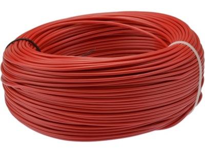 Kábel, drôt, kábel LGY 0,75mm2 červená 100m
