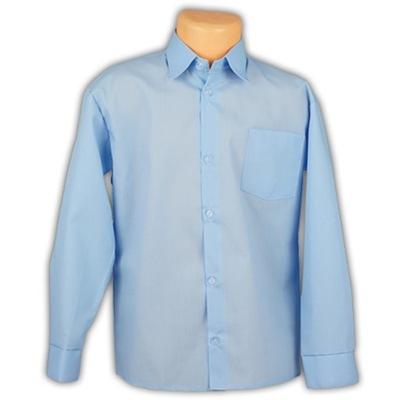 MIK Koszula chłopięca niebieska dł ręk koł 30 116