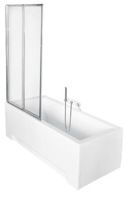 Sprchové dvere - Vane obrazovka 80x140 transparentné dvojdverové
