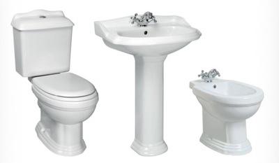 Závesné WC, bidet -  ČIERNY STANDING WHITE retro