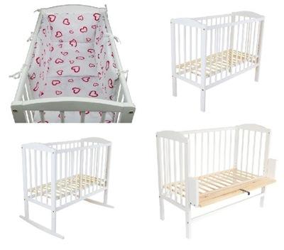 Детская кроватка дополнительная КРОВАТЬ, детская кроватка МАРИЯ+2MATERACE постельное БЕЛЬЕ