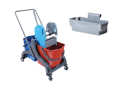 комплект коляска для уборки 2x20l + корзина