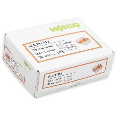 Rýchle konektor WAGO UNIVERZÁLNY 3x0,2-4 mm, 2 50pcs