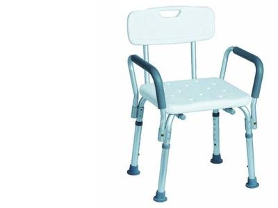 ławka Inwalidzka Do łazienki Z Oparciem Regulowana