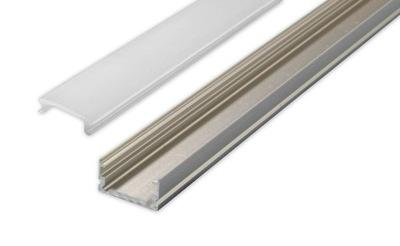 алюминиевый профиль для ЛЕНТ LED С АБАЖУРОМ 2м Тип Х