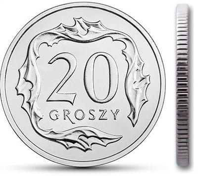 20 gr groszy 2019 mennicza mennicze z woreczka
