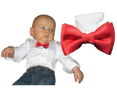 Muszka dziecięca mucha 0-12 m-cy krawat szelki.