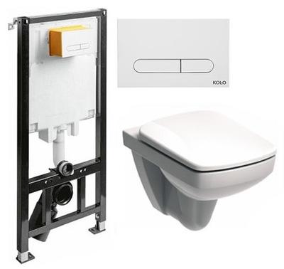 Set do kúpeľne a WC - KOLESA SLIM2 + MISKA NOVA PRO DESKA W / O PRZYC