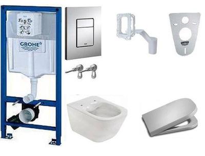 Set do kúpeľne a WC - GROHE FRESH FRAME RÁM ROCA GAP RIMLESS DESKA WO