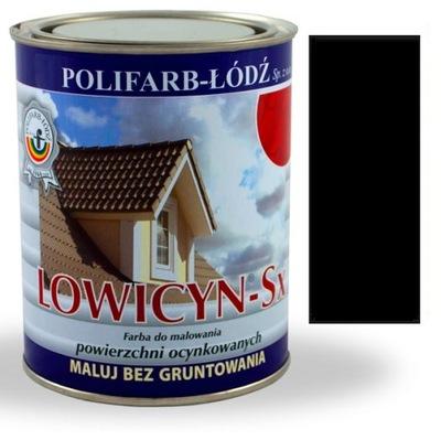Lowicyn Sx farba zinok ČIERNA RAL9005 LESK 5L