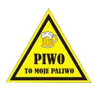 NAKLEJKA na KASK PIWNY Piwo To Moje Paliwo 1 szt.