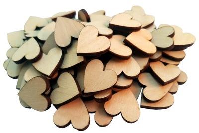 сердце деревянные 1 см 100 штук декупаж сердца