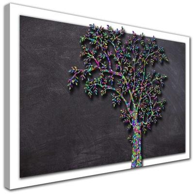 современный изображение Дерево листья ЦВЕТНОЙ белая Рама