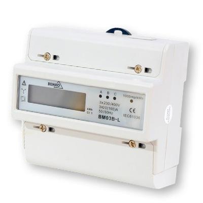 Elektromer 3-fázového elektronického spoločnosti bemko