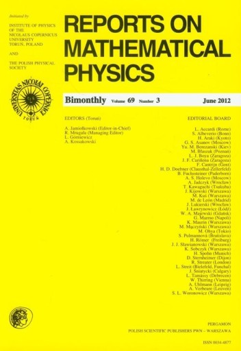 Reports on Mathematical Physics 69/3/2012