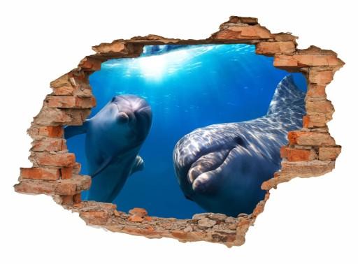 naklejki na ścianę widok 3d dziura mur 130x90cm 6616351461