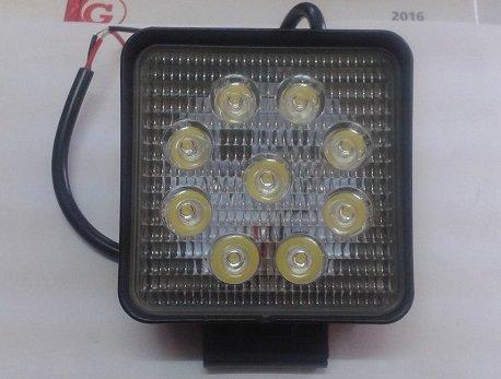 ZIBINTAS (LEMPOS-FAROS) HALOGENAS VEIKIANTIS LED 27W 9Led 2200Lm 12/24V