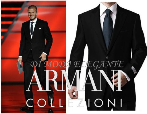 8ec04b91c2ea8 Garnitur ARMANI 58 nowy, czarny mat ITALY!! 7950075489 - Allegro.pl