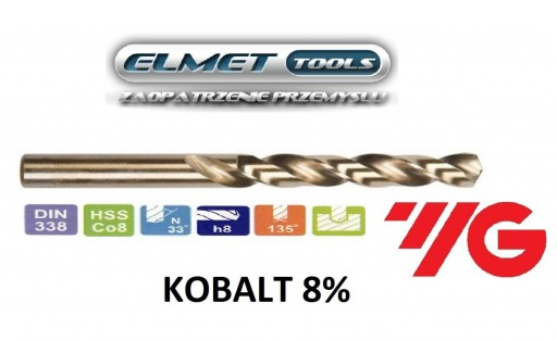 Wiertło FI 14,0 HSSCo8 KOBALT 8% DIN338 YG-1