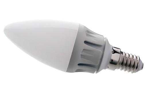 Żarówka LED E14 świeca 7W ciepła ŚCIEMNIACZ ALU