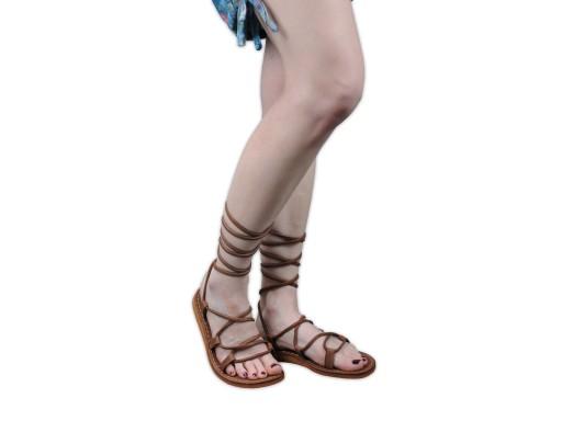 Sandały skórzane Rzymki Rzymianki