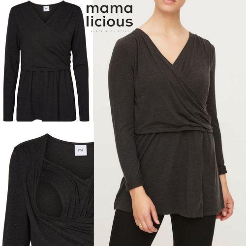 MAMA LICIOUS bluzka do karmienia/ciążowa PEACH S