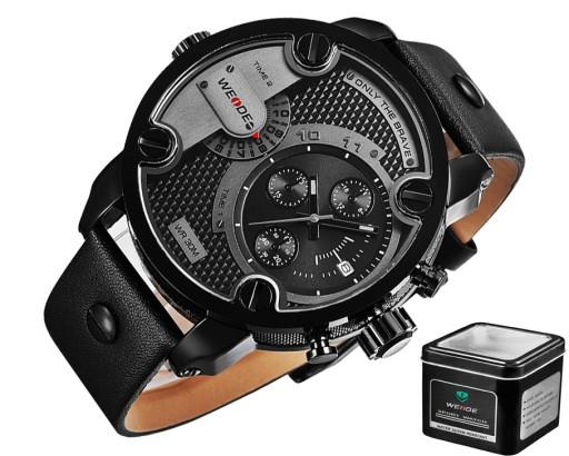 Inteligentny DUŻY MARKOWY Zegarek męski XXL WEiDE Skóra LUX GW 6211845301 DA53