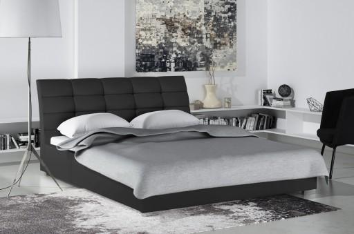 Łóżko tapicerowane stelaż pojemnik 140x200 DIVA