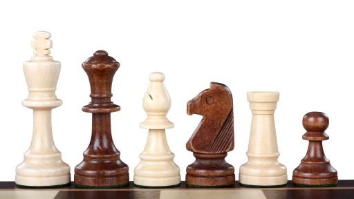 Figury Szachowe STAUNTON NR 5 Rzeźbione Drewniane